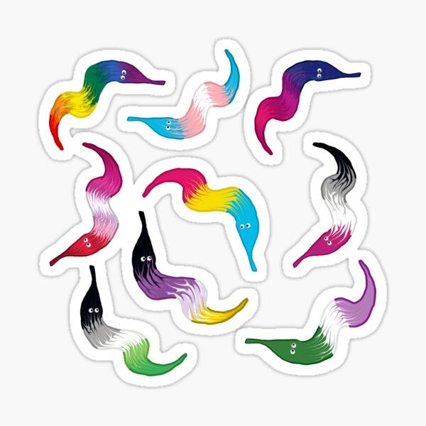 LGBTQ Worm On A String Sticker Pack Sticker