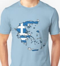 Greece Map With Greek Flag T-Shirt