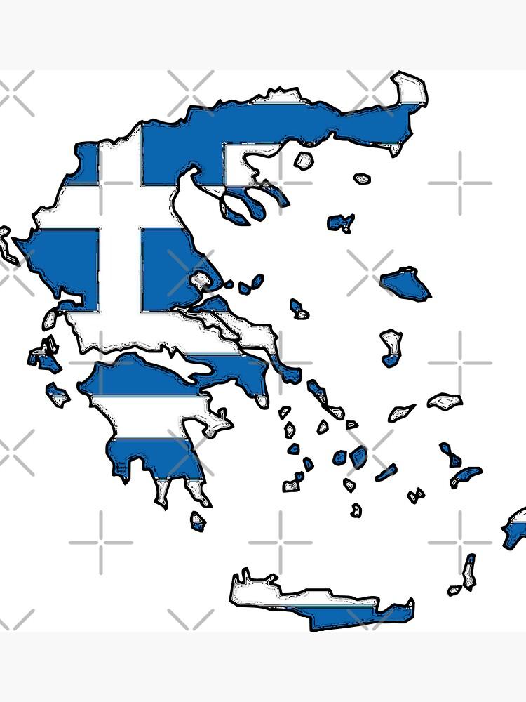 Mapa de Grecia con bandera griega de Havocgirl