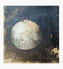 Men walk on Moon Photographic Print