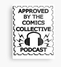 Comics Collective Podcast Logo Metal Print