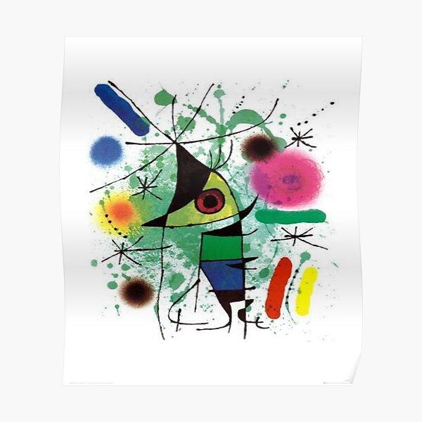 """Joan Miro """"Singender Fisch"""" Poster"""