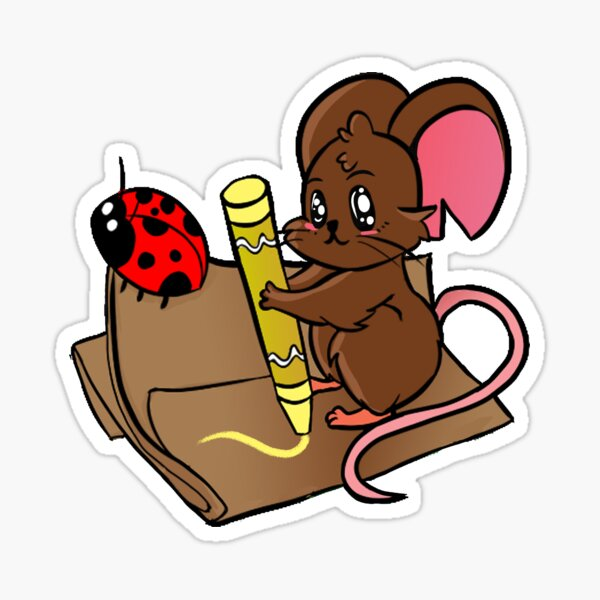 Art Time with Lady Bug and Mouse Sticker