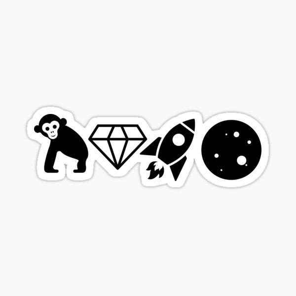 Iconic Ape Diamond Rocket Moon - AMC Family Sticker