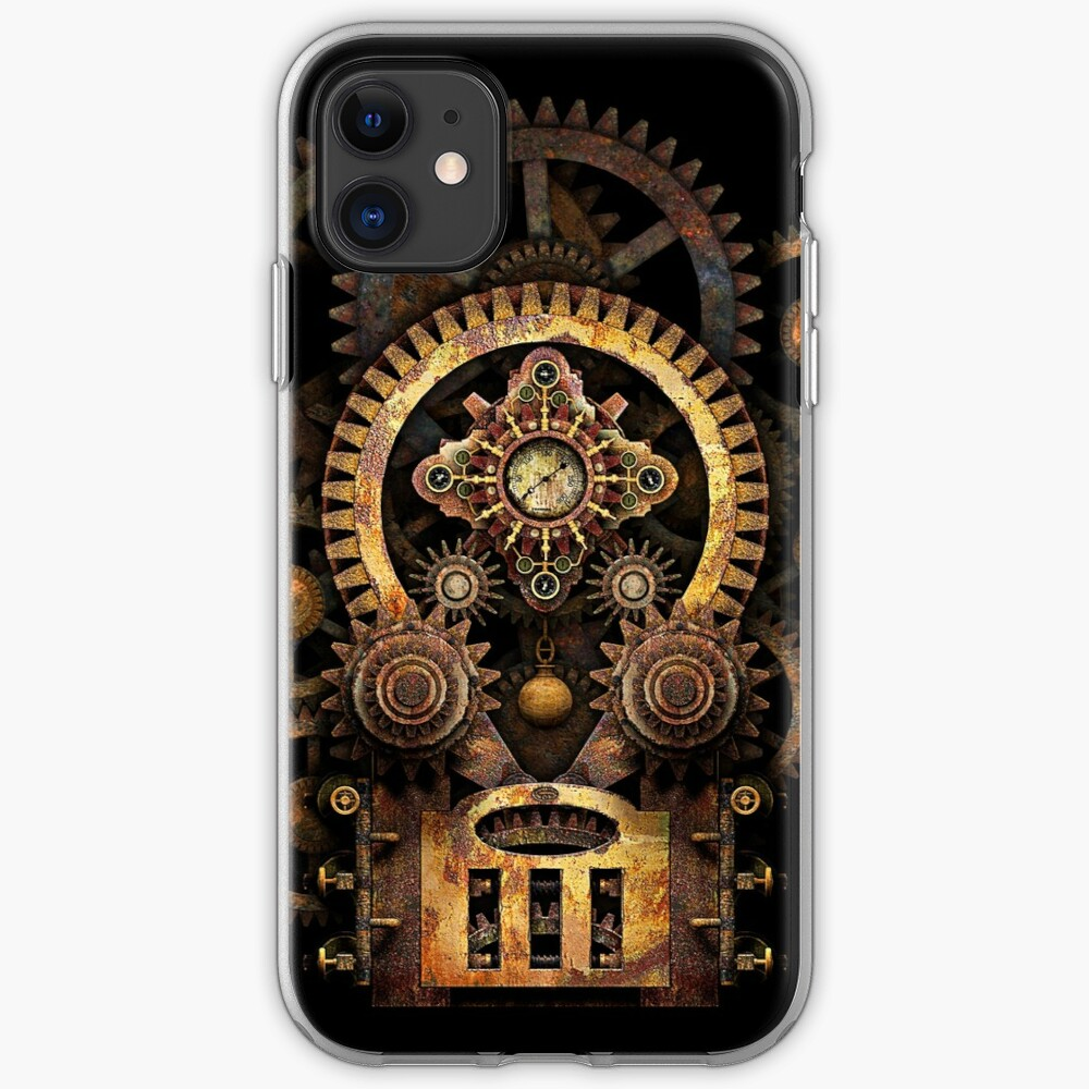 Infernal Steampunk Vintage Machine #2B iPhone Case & Cover