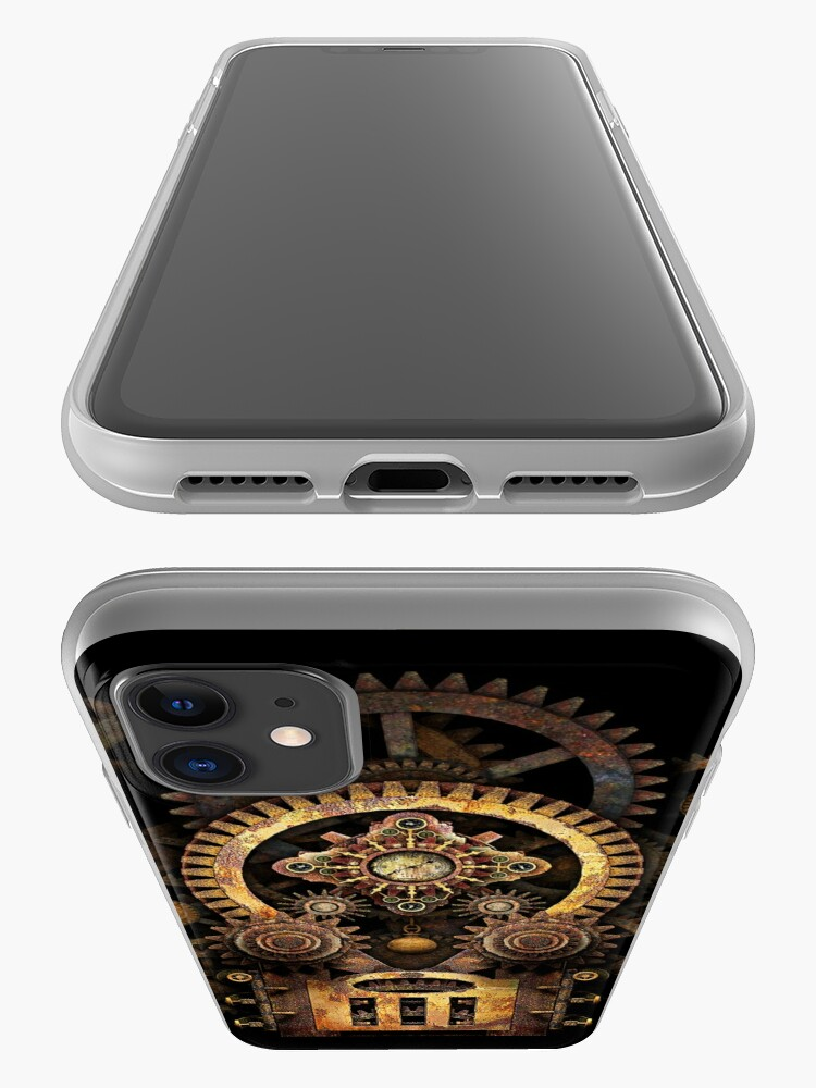 Alternate view of Infernal Steampunk Vintage Machine #2B iPhone Case & Cover