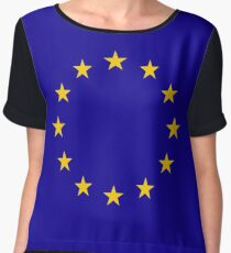 Living EU Flag Chiffon Top