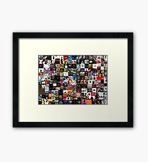 the greatest hip hop collage Framed Print