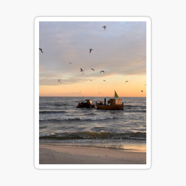Routes to work on the Baltic Sea, Usedom Sticker