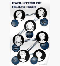 Evolution of Reid's Hair Poster