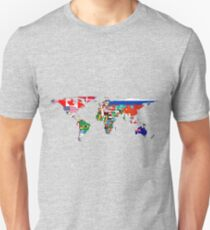 The World Flag Map T-Shirt