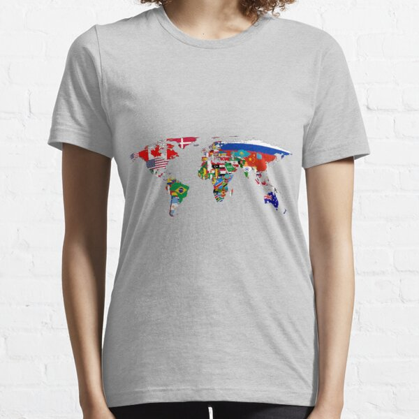 The World Flag Map Essential T-Shirt