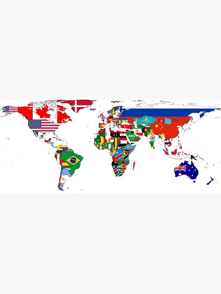 El mapa de la bandera del mundo de cadellin