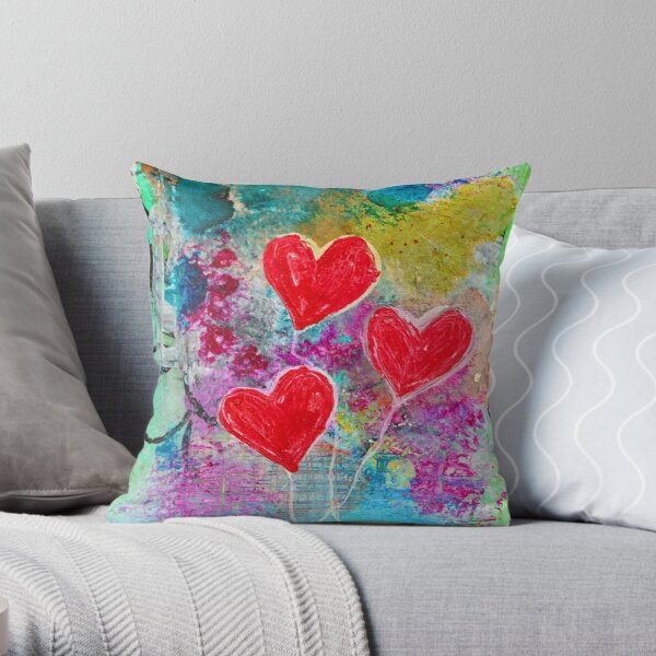 FLOATING LOVE Throw Pillow