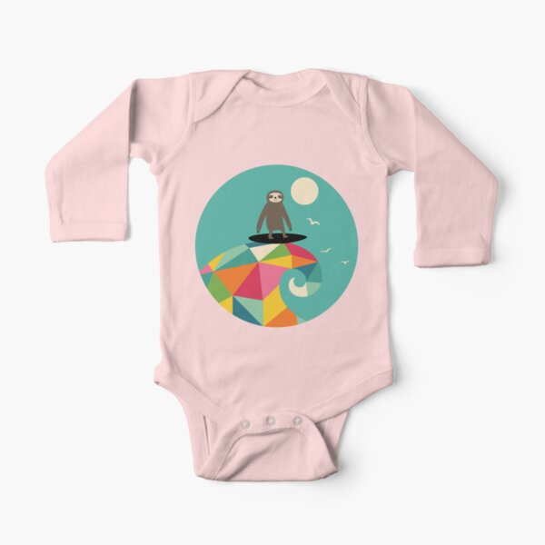 Surfs Up Long Sleeve Baby One-Piece
