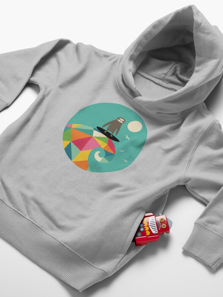 Alternate view of Surfs Up Toddler Pullover Hoodie