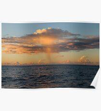 Rain Cloud over Indian Ocean Poster