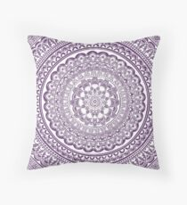 Mandala - purple Throw Pillow