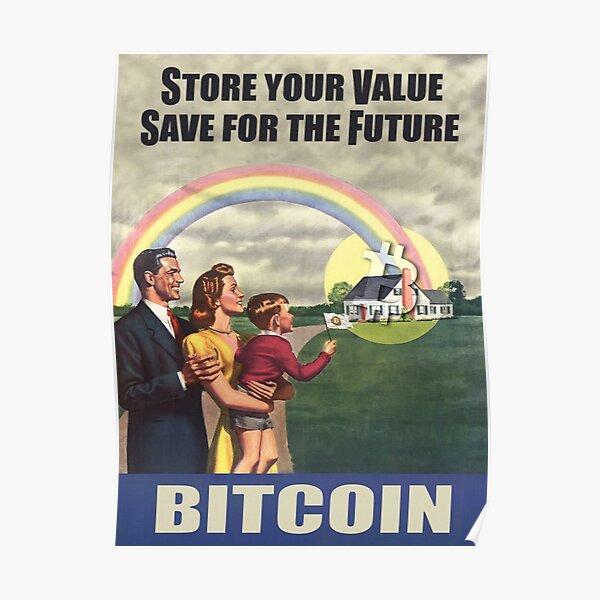 Stockez votre valeur Poster