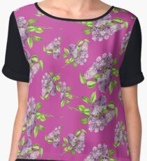 Blooming lilac branch seamless pattern. Floral pattern. Chiffon Top