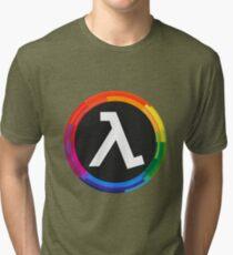 Half Life Logo (Rainbow) Tri-blend T-Shirt