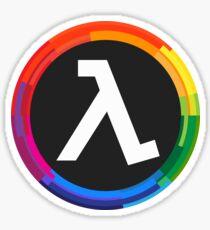 Half Life Logo (Rainbow) Sticker