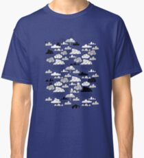 Doodle clouds and cats Classic T-Shirt