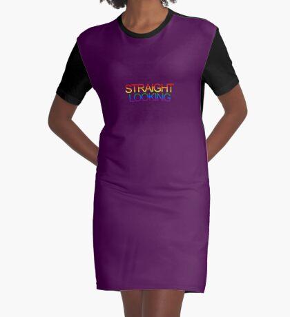 Straight Looking - Rainbow Graphic T-Shirt Dress