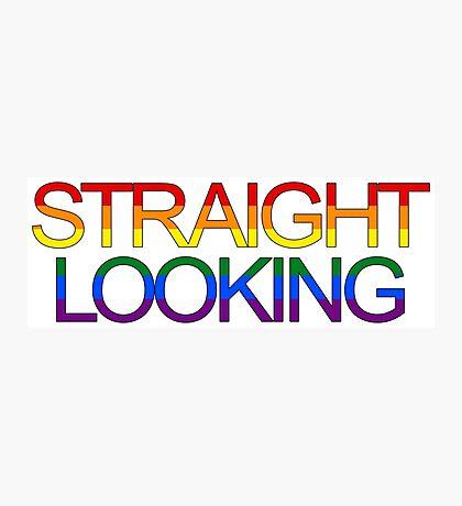 Straight Looking - Rainbow Photographic Print
