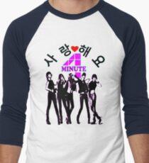 ♥♫SaRangHaeYo(Love) Hot Fabulous K-Pop Girl Group-4Minute Clothes & Phone/iPad/Laptop/MackBook Cases/Skins & Bags & Home Decor & Stationary & Mugs♪♥ Men's Baseball ¾ T-Shirt