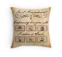 Freedom of Speech Throw Pillow