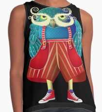 My Owl Red Pants Contrast Tank