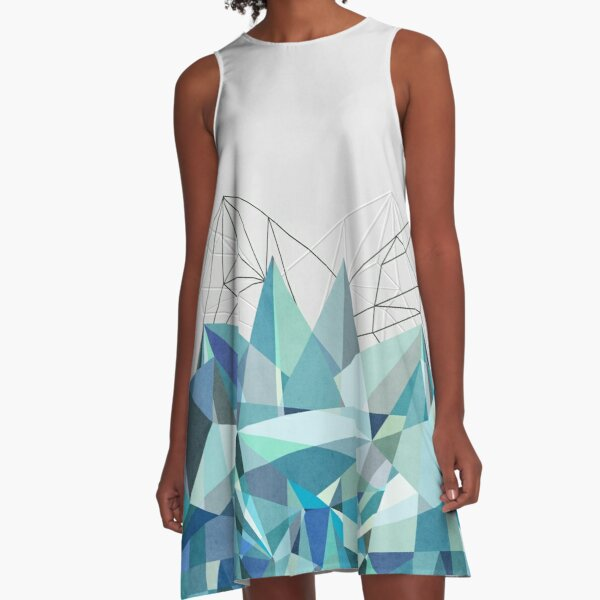 Colorflash 3 Turquoise A-Line Dress
