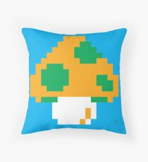 Super Mario Bros. Green 1-UP Mushroom Throw Pillow