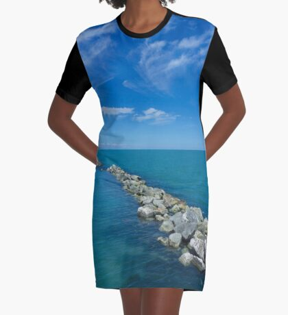 Seascape Graphic T-Shirt Dress