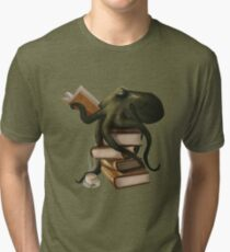 Well-Read Octopus Tri-blend T-Shirt