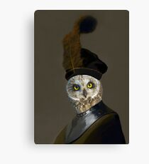 The Owl General - Photographic Composite Canvas Print