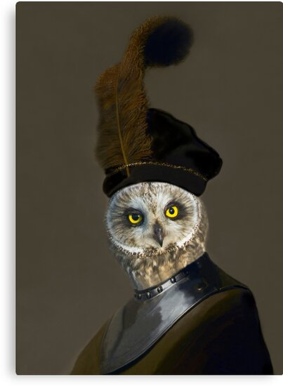 The Owl General - Photographic Composite by TheCurators