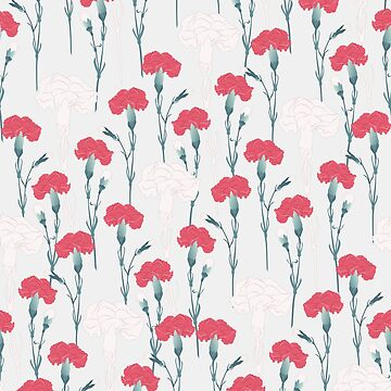 pink carnation on pale blue von youdesignme