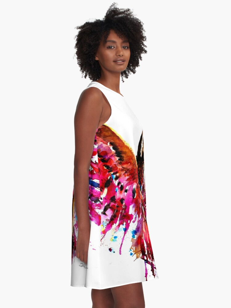 Alternate view of Flying Owl A-Line Dress