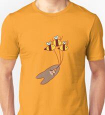 Sloth and Bumble Bees Unisex T-Shirt