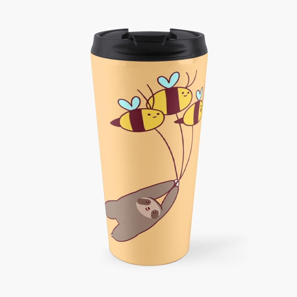 Sloth and Bumble Bees Travel Mug
