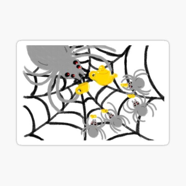 Spider Tea Sticker