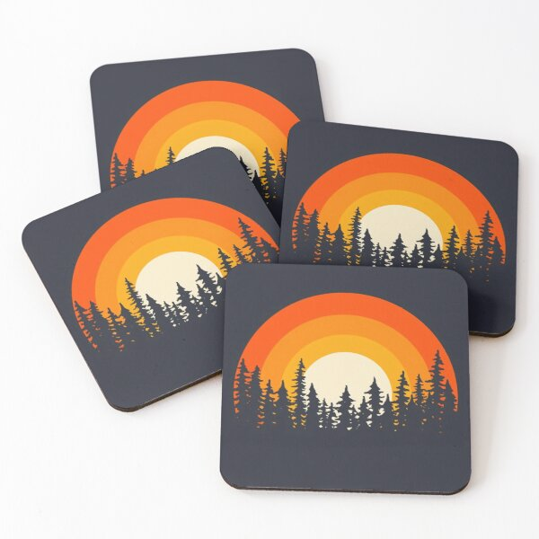 Collection of Pine forest no27 Coasters (Set of 4)
