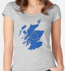 Scotland Map EU Women's Fitted Scoop T-Shirt