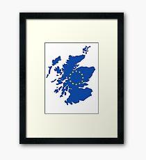 Scotland Map EU Framed Print