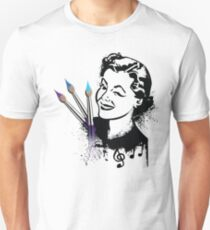 She Paints with Music T-Shirt