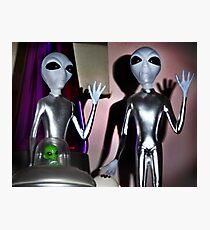 Don't shoot! We just came in to watch Ancient Aliens! Photographic Print