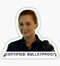 Certified bulletproof Officer Nicole Haught - Wynonna Earp Sticker