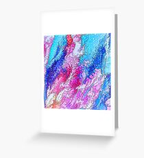 Sparkling Sea Abstract Greeting Card